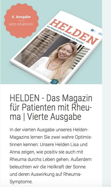 Interview mit Lisa von RheumaOptimist im Rheuma-Helden-Magazin.